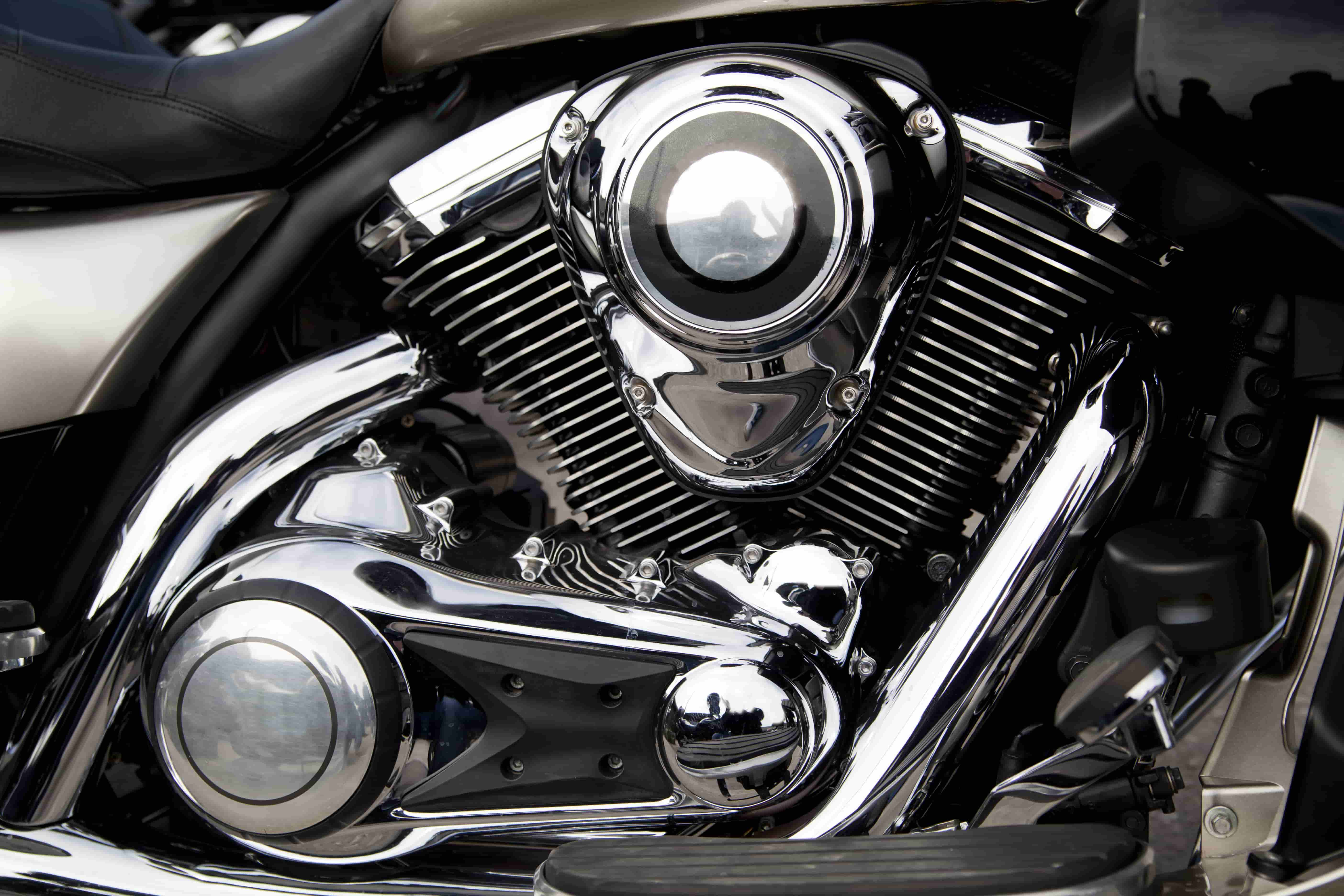 motorcycle engine clean close up