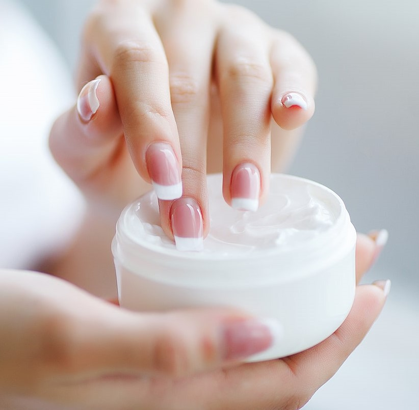 hands beauty cream or cosmetics
