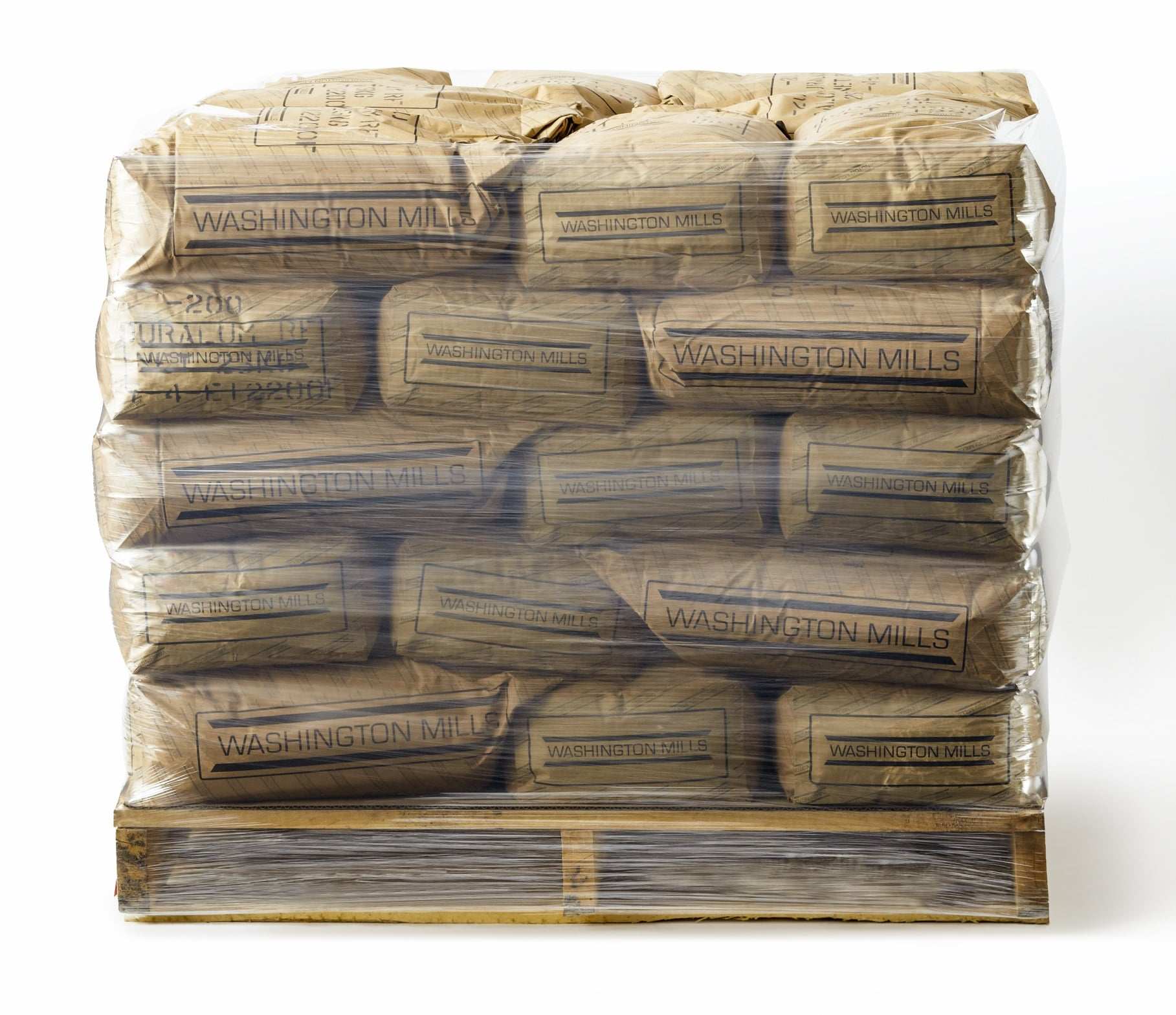 Pallet of Brown Washington Mills 50lb bags